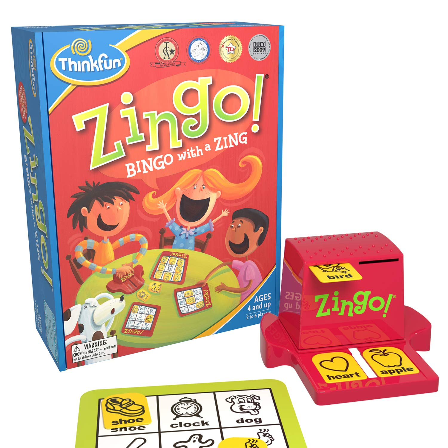 ThinkFun Zingo Bingo Award Winning Preschool Game for Pre-Readers and Early Readers Age 4 and Up - One of the Most Popular Board Games for Boys and Girls and their Parents Amazon Exclusive Version