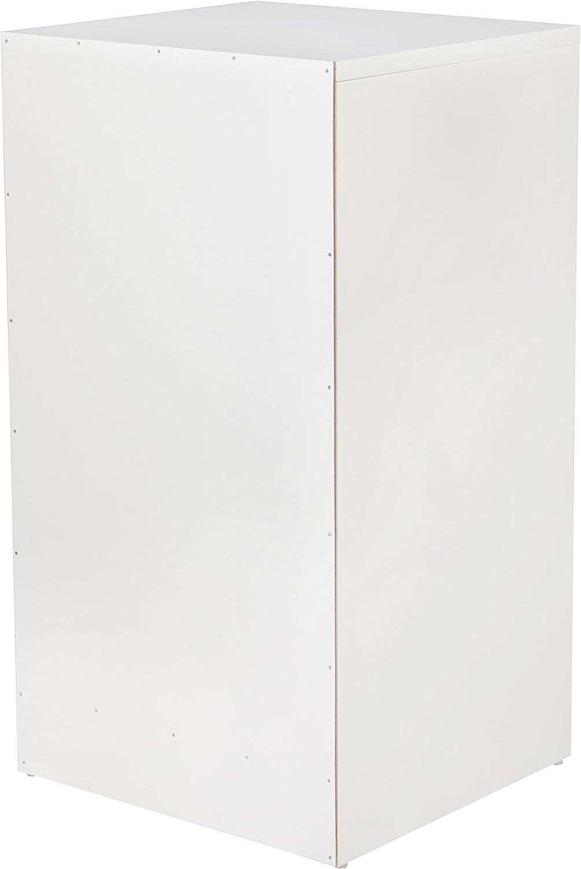 FineBuy Nachtkonsole Boxspringbett OLE mit 3 Schubladen in Holz Wei/ß Modern Design Nachtk/ästchen| Nako Nachttisch Kommode Nachtschrank Breite: 37,5cm H/öhe: 68cm Tiefe: 35cm