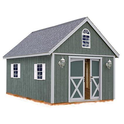 Amazon com : Best Barns Belmont 12 ft  x 24 ft  Wood Shed