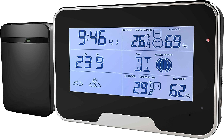 Wetterstation Getarnte Spionage Kamera Mit Bewegungserkennung Funktion Full Hd Mini Tischuhr Wecker Überwachungskamera Baumarkt