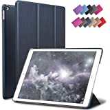 iPad Mini 4 Case, ROARTZ Metallic Navy Blue Slim Fit Smart Rubber Coated Folio Case Hard Cover Light-Weight Auto Wake/Sleep For Apple iPad Mini 4th Generation Model A1538/A1550 Retina Display