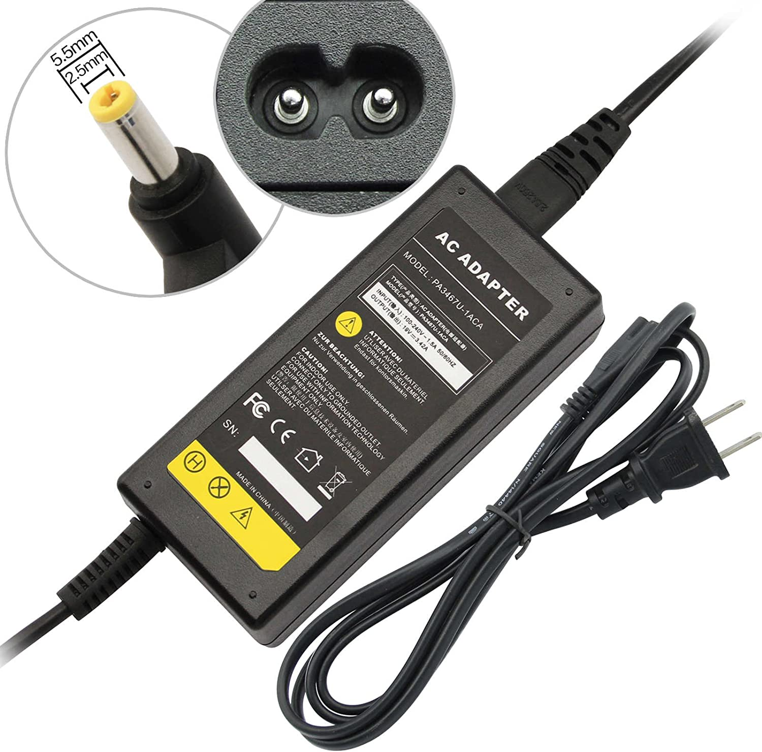 Amazon.com: AC Adapter Charger For Toshiba Satellite C855D ...
