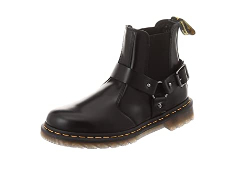 408782e735d Dr. Martens Unisex Adults' Wincox Chelsea Boots, (Black Polished Smooth 001)
