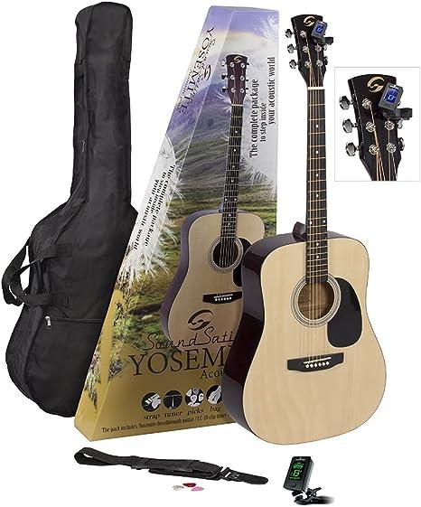 Guitarra Acústica SOUNDSATION Guitar Pack Sónico yosemite-gp-nt ...