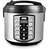 Aroma Housewares ARC-5000SB Digital Rice, Food Steamer, Slow, Grain Cooker, Stainless Exterior/Nonstick Pot, 10-cup uncooked/