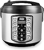 Aroma Housewares ARC-5000SB Digital Rice, Food Steamer, Slow, Grain Cooker, Stainless