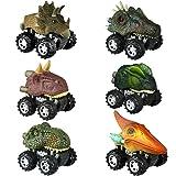 Dinosaur Toys for 3-6 Year Old Boys, Pull Back Dinosaur Cars for Kids Pull Back Vehicles Toys for Age 3-7 Boys Toy Cars Dinos