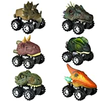 Dreamingbox Dinosaur Toys for 2-6 Year Old Boys, Pull Back Dinosaur Cars for 2-6...