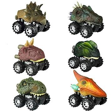 Amazon.com: WIKI Dinosaurio Juguetes Tirar Trasera Coches ...