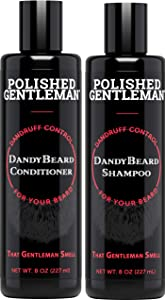 Beard Wash Shampoo and Conditioner Set - for Beard Dandruff and Dry Itchy Beards - with Beard Oils and Tea Tree - Organic Facial Hair Moisturizer Kit - Great Beard Mustache Wash (8oz)