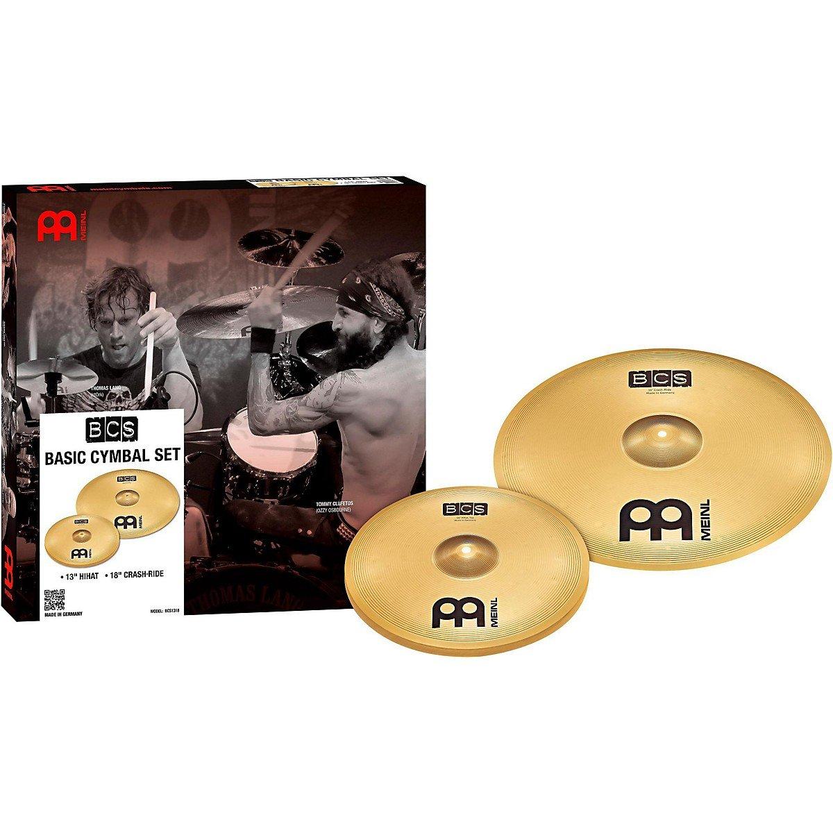 Meinl Cymbals BCS 2-piece Cymbal Box Set - 13'' Hi-hats, 18'' Crash/Ride