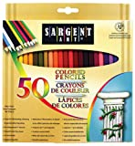 Sargent Art Premium Coloring Pencils, Pack of 50 Assorted Colors, 22-7251