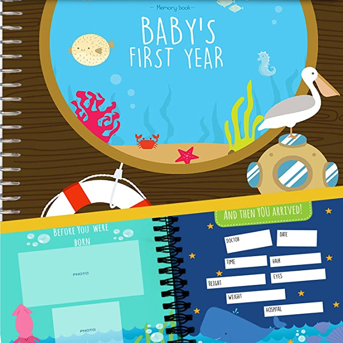 Album de Recuerdos del Primer Año del Bebé - Agenda del 1er ...