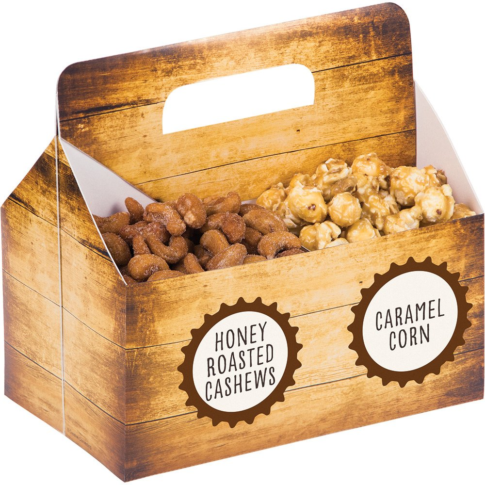 Creative Converting Snack Server Box with Stickers, Cheers & Beers (6-Count )