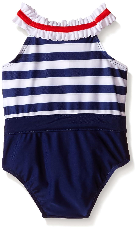 f93eb69b26 Amazon.com: Sol Swim Baby Miss Sailor Girl Swimsuit, Navy, 24 Months:  Clothing