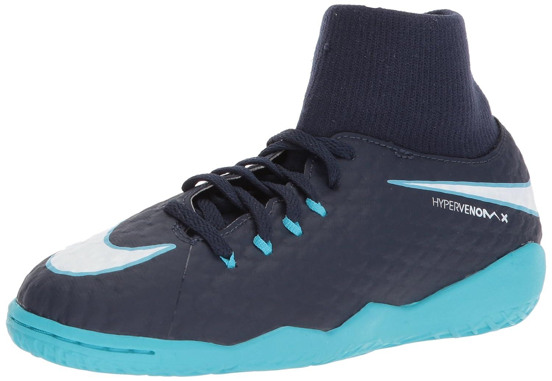 Nike Unisex-Kinder Jr Hypervenomx Phelon 3 Df Ic Fuszlig;ballschuhe  365 EU|Mehrfarbig (Indigo 001)