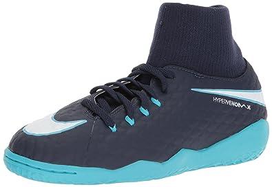 a67a57d8e Nike Youth Hypervenomx Phelon III DF Indoor Shoes  Obsidian  (1.5Y)