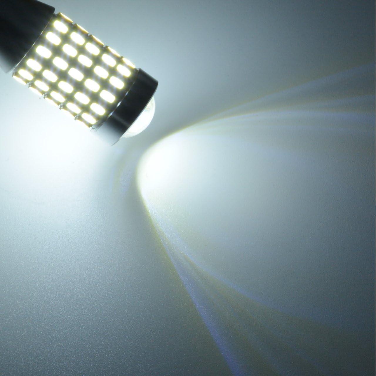 TUINCYN T15 LED Backup Reverse Light Bulb Xenon White CANBUS Error Free 3014 87SMD Extremely Bright 921 912 Back Up Light Third//3rd Brake Light DC 12V-24V Pack of 10