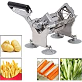 Costway Vegetable Cutter Slicer Fruit Potato French Fry Commercial Quality W/ 4 Blades