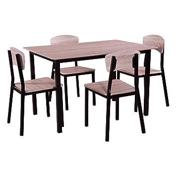 Esstischgruppe für vier Personen Essgruppe Sitzgruppe Holz mit 4 ...