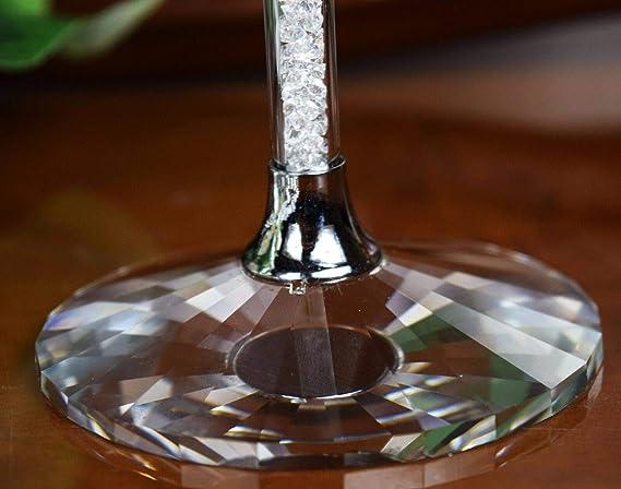 Par de copas de champán con cristales Swarovski, para regalo de boda y caja de regalo: Amazon.es: Hogar