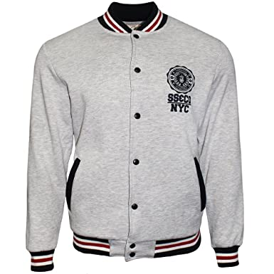 f82f104d2ac SoulStar Mens Varsity Baseball Jackets Lightweight Sweatshirt Track Top   Amazon.co.uk  Clothing