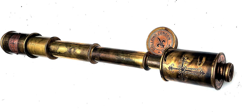 aladean Brass Telescope Royal Army Ship Captain Nautical Scope Pirate Spyglass Dollond London Hign Magnification DF Optical Lens