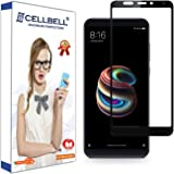 CELLBELL Xiaomi Redmi 5 Full Edged Glued Tempered Glass Screen Protector with Free Installation Kit (Black)