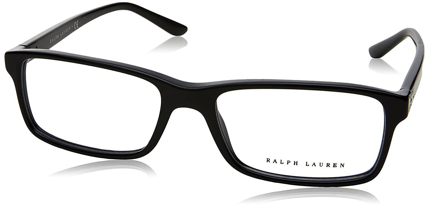 2298d375e756 Ralph Lauren RL6144 Eyeglass Frames 5001-53 - Black at Amazon Men's Clothing  store: