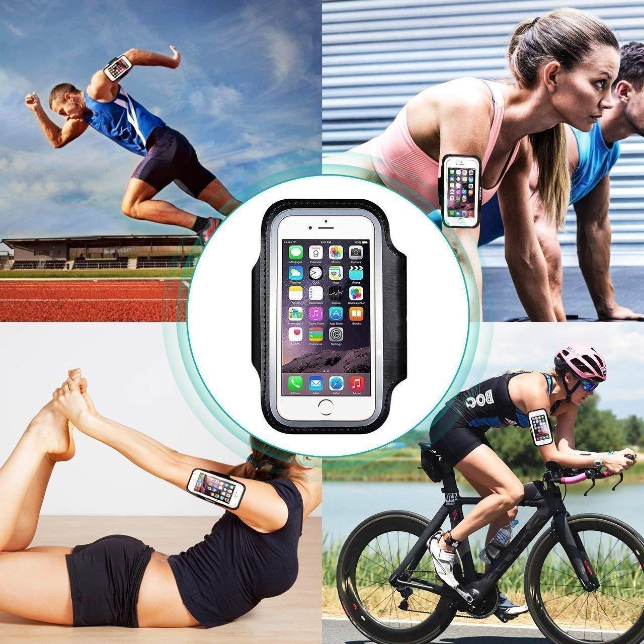 ideal para fitness senderismo ciclismo. multifunci/ón brazalete deportivo para Xiaomi Redmi Note 6 Pro Brazalete deportivo gimnasio con tama/ño ajustable dise/ño seguro correr