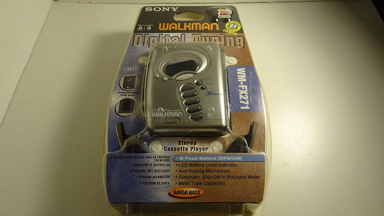 Sony Digital Tuning Sony Walkman FM/AM Cassette Tape Radio Walkman Sony Walkman Model# WM-FX271