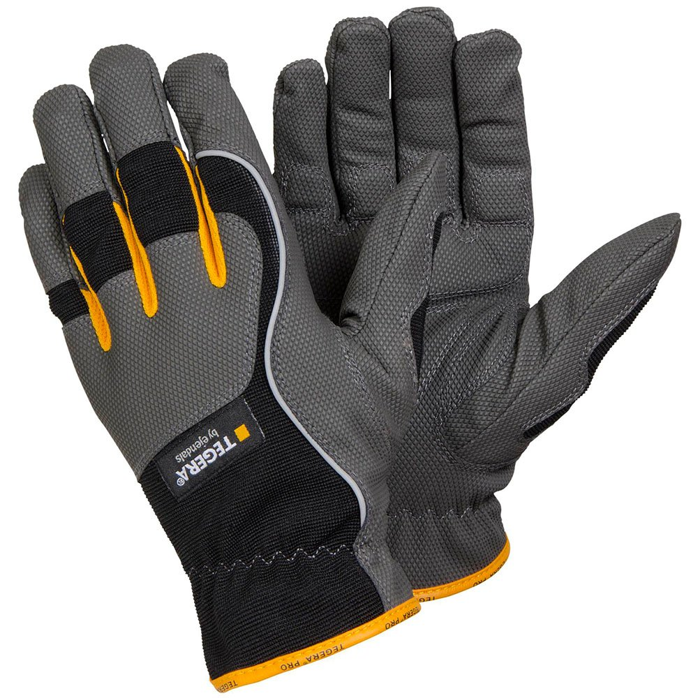 Ejendals 9125-8 Size 8'Tegera 9125' Synthetic Leather Glove - Grey/Black/Yellow