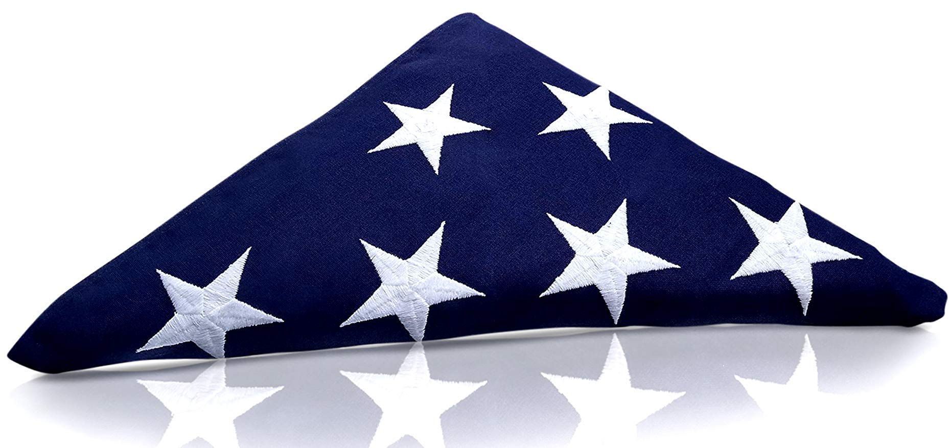 Tillery Innovations PRE-Folded Premium US Burial Flag, 5' x 9.5' Made in The USA with Fully Embroidered Stars and Sewn Stripes for US Veterans, Internment, Flag Ceremony, Memorial Day