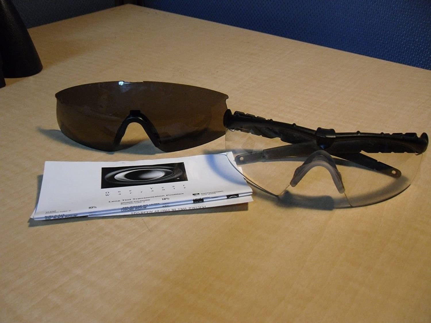 Oakley M Frame 2.0 Ballistic / Industrial Strike Clear Safety ...