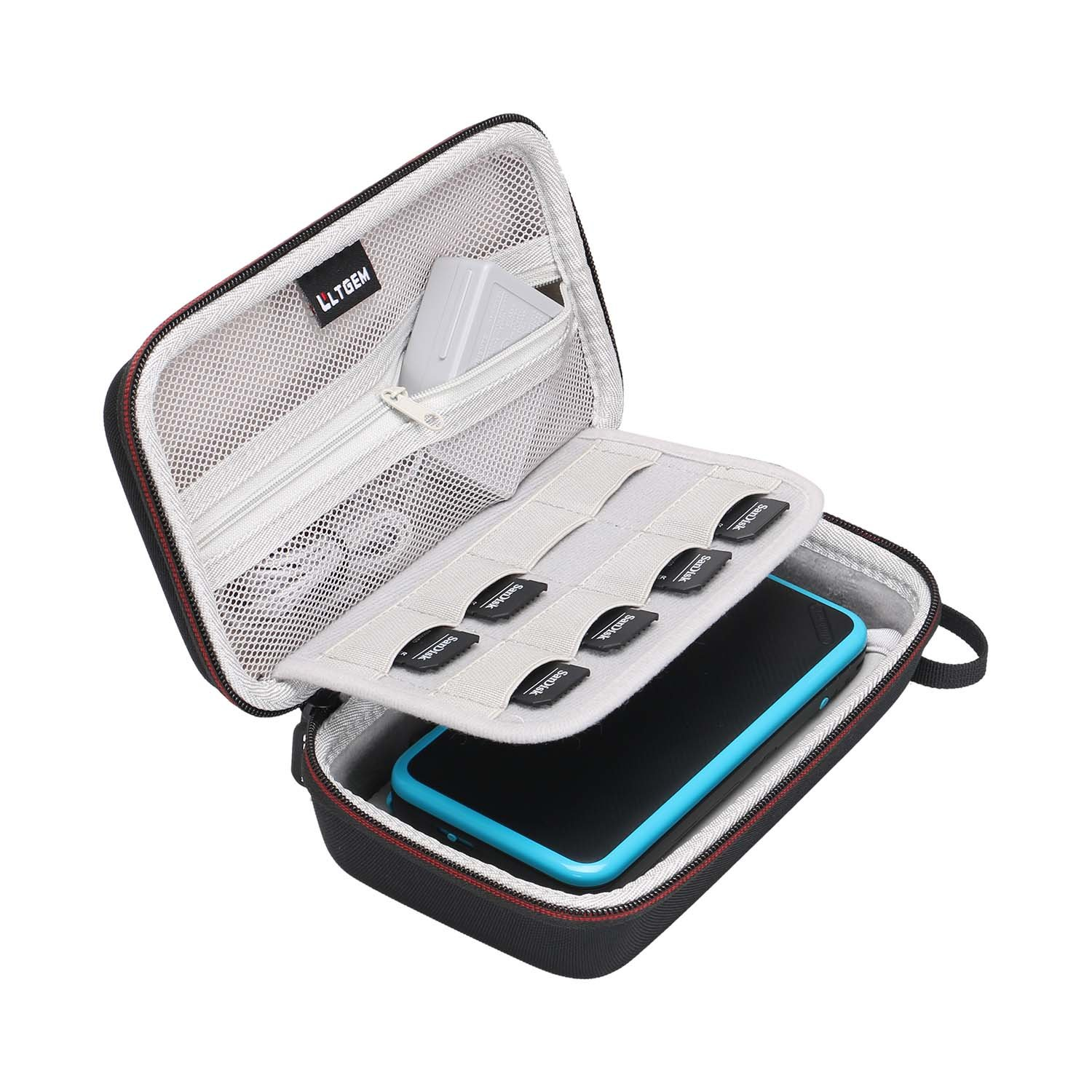 LTGEM Carrying Case for New Nintendo 3DS, New 2DS XL, New 3DS XL, Nintendo New 3DS XL -Super NES Edition-[NOT for Nintendo Switch]