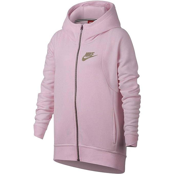 Nike G NSW Mdrn Hoodie FZ Felpa, Bambina