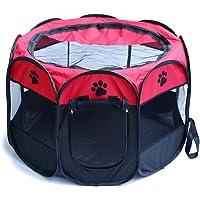 HENREK Pet Dog Cat Playpen Cage Crate - Portable Folding Exercise Kennel - Indoor & Outdoor Use