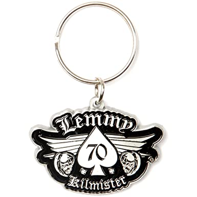 Amazon.com: Motorhead Lemmy 70 metal Key cadena plata: Clothing