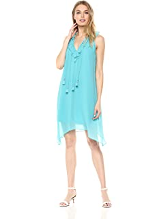 42a7430d097c kensie Women s Light Weight French Terry Romper with Ribbon Tie Back ...