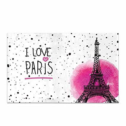 Amazon.com: InterestPrint Vintage View Of Eiffel Tower and River in Paris France House Decor Non Slip Bath Rug Mat Absorbent Bathroom Floor Mat Doormat ...