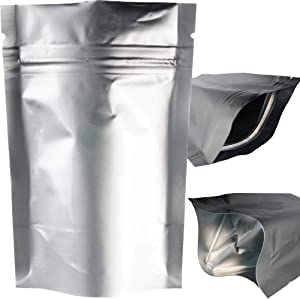 x5 Smell & X-Ray Proof Mylar Bags, Long Term Food Storage, Vacuum Sealable Ziplock Bags (12x20cm) (4.72x7.87in). by MZ Basics