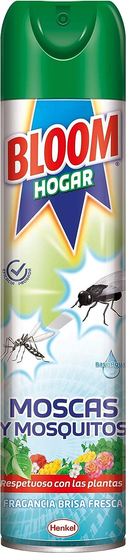 Bloom Hogar Aerosol contra moscas y mosquitos, 600ml , Pack de 1, Verde