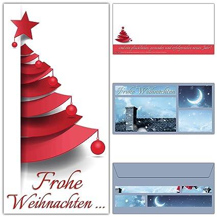 Weihnachtskarten Mit Umschlagen 12er Set Modernes Weihnachtsbaum Design Fur Privat Und Geschaft Edle Frohe Weihnachten Karten Von Breitenwerk