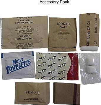 MRE (Meals Ready-to-Eat) – Racionamiento original de los combatientes de guerra de EE. UU.1 paquete de provisiones para militares de diferentes ...