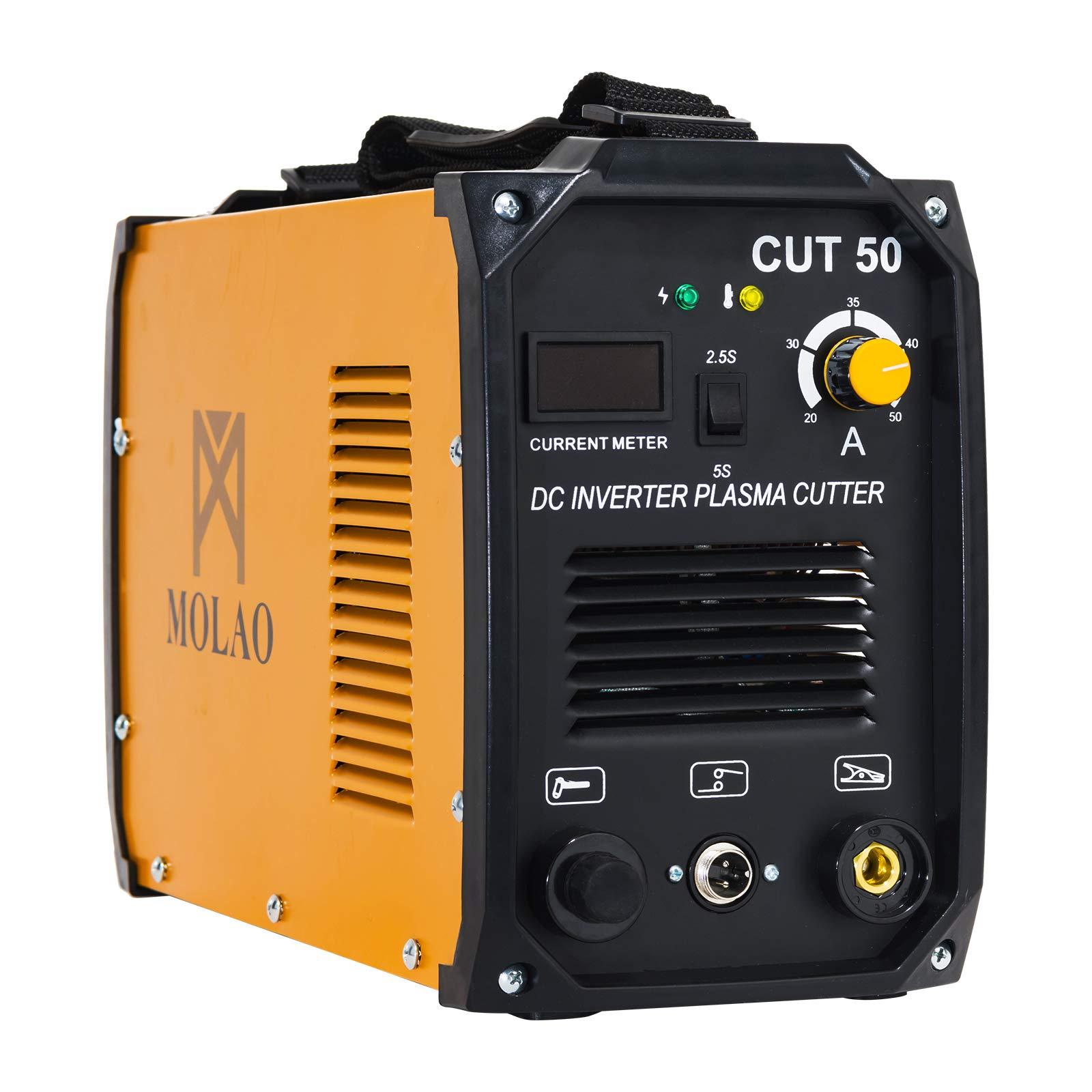 SUNCOO Cut-50 Plasma Cutter Electric DC Inverter Cutting Machine with Digital Display Dual Voltage 110/220V, 1/2'' Clean Cut