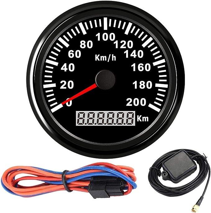 Universal GPS Speedometer Gauge With Backlight Waterproof Dustproof 160MPH Odometer for Motorcycle Boat