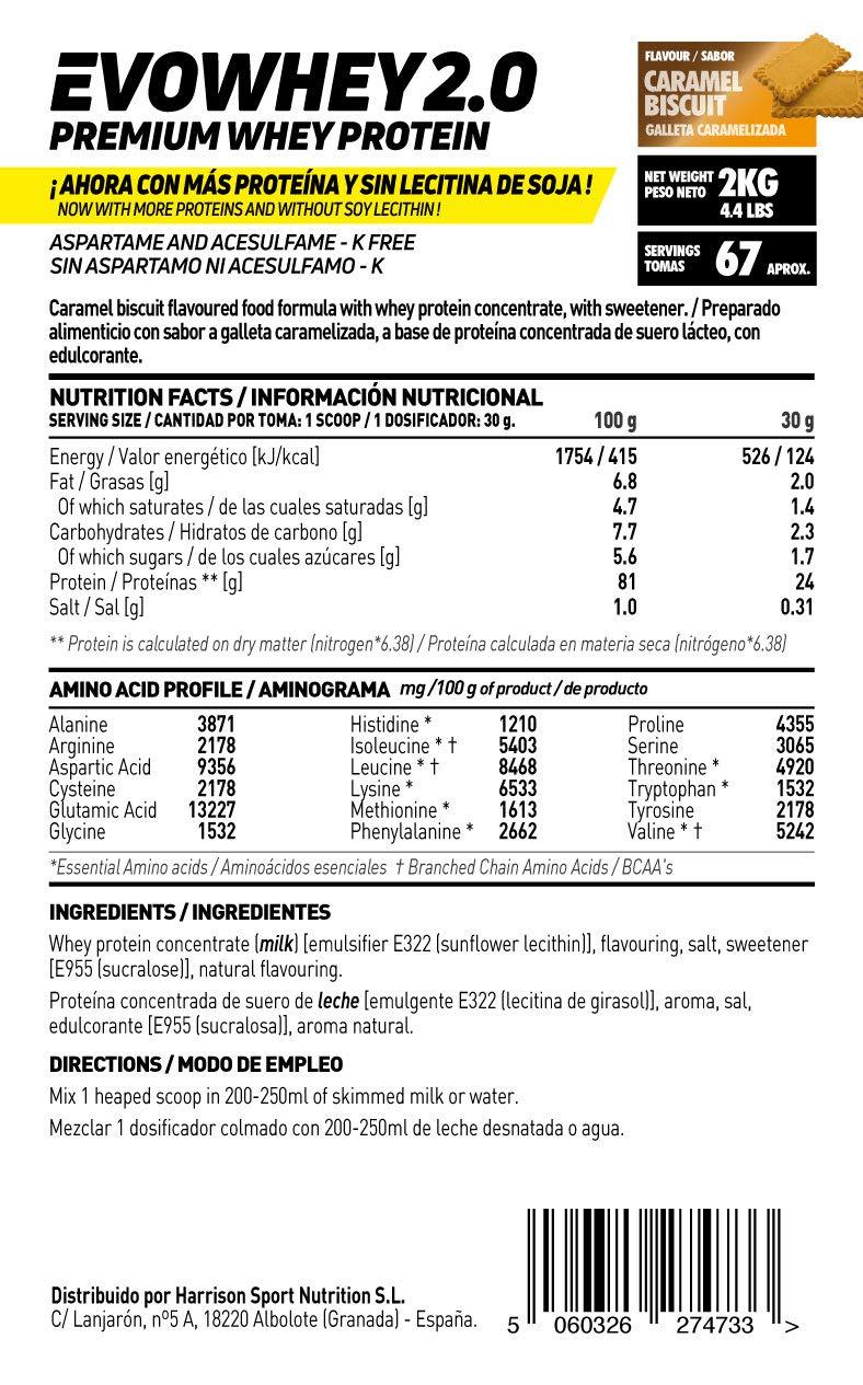 Whey Protein Concentrate (WPC) de HSN Sports - Concentrado de Proteína de Suero Evowhey 2.0 - Sabor Sandía - 2000 gr: Amazon.es: Salud y cuidado personal