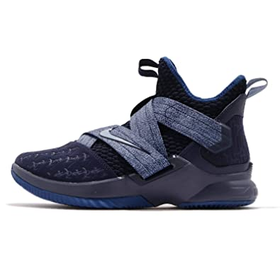 hot sale online 74e69 9a65c Amazon.com | NIKE Men's Lebron Soldier XII EP, Blackened ...