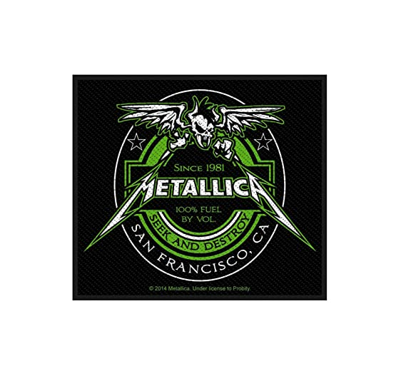 amazon com metallica patch seek and destroy fuel label official sew