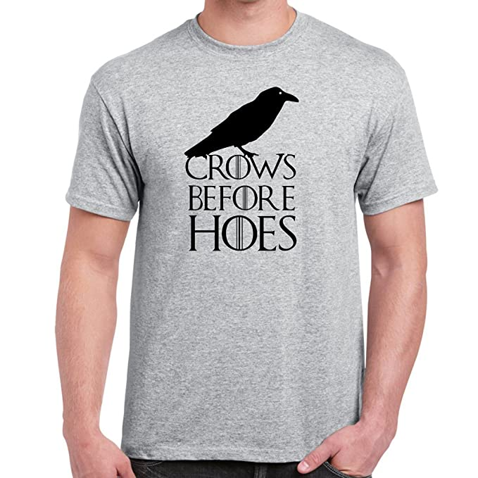 StarliteFunnyShirts - Camiseta-Crows Before Hoes-Game of Thrones-Camisetas divertidas para hombre